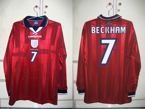 England 1997-1999 Away L/S (BECKHAM - Player Issued)