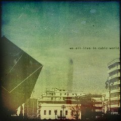 cubic_world (Stathis Stavrianos (Stathis_1980)) Tags: city sky building texture 6x6 photoshop vintage square design text retro greece cube feeling scratch squared textured patras cibic stathis1980