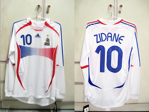 France 2006-2008 Away L/S (ZIDANE - Player Issued)