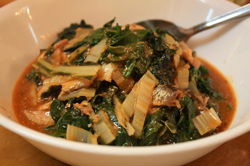 Kale & Swiss Chard with Sardines
