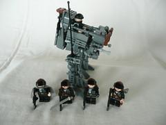 The Midnight Eclipse attack team. (Lego Junkie.) Tags: army war lego attack walker midnight mech 2034 usdf