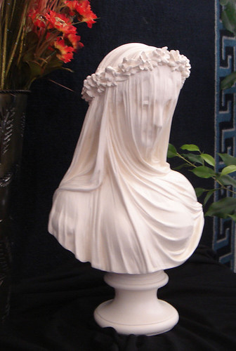 "MEDIEVAL GUINEVERE VEILED MAIDEN BUST 14"" www.neo-mfg.com"
