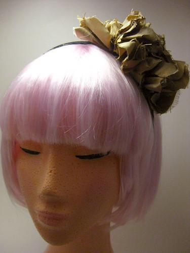 Silk ruffle hair band