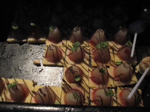 pear dessert canapé