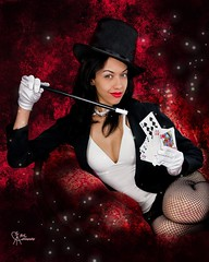 Zatanna pick a card (VictoriaCosplay) Tags: woman wonder cards cosplay magic poker wonderwoman tophat batman dccomics greenlantern smallville justiceleague magician magicwand zatanna blackestnight victoriacosplay wwwcosplaygirlwebscom