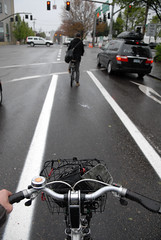 New bike lane on NE 12th at Sandy-4
