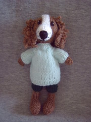"7"" Springer Spaniel (Impression-Knits) Tags: food fish dogs knitting hats icecream knitted dognovelties"