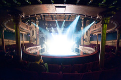 Auditorium (TGKW) Tags: show portrait people man set circle lights dress theatre glasgow candid stage watching auditorium citizens proscenium 5051