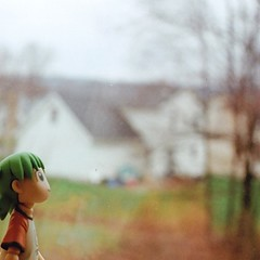 Yotsuba Dreams of Brighter Days. (Wild Kindness) Tags: film window 2010 yotsuba zenite revoltech
