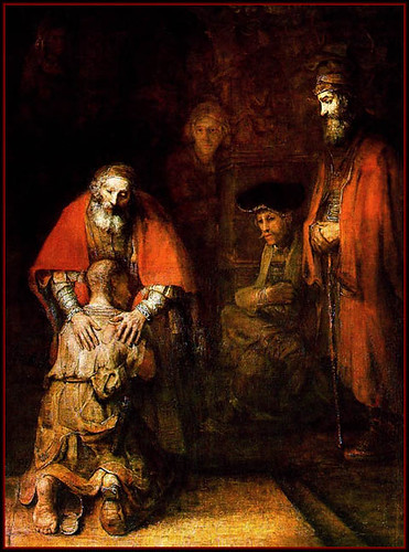 Rembrandt's painting titled 'The Return of the Prodigal Son'
