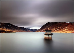 Loch Turret (angus clyne) Tags: new old longexposure bridge blue red wild sky cliff mountain storm mountains water canon grey climb scotland boat high long exposure angle wind angus dam heather south hill north fine wide perthshire glen east highland loch moor crieff turret clyne colorphotoaward lochturret