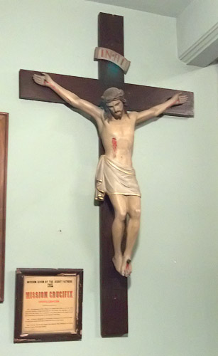 Old Saint Ferdinand's Shrine, in Florissant, Missouri - mission crucifix 2