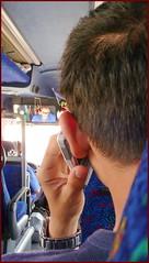No Cell Phones Allowed (Mike Goldberg) Tags: silhouette prohibited cellphones passover holidaytravel eggedbus fourhours lumixtz4 eilattojerusalem