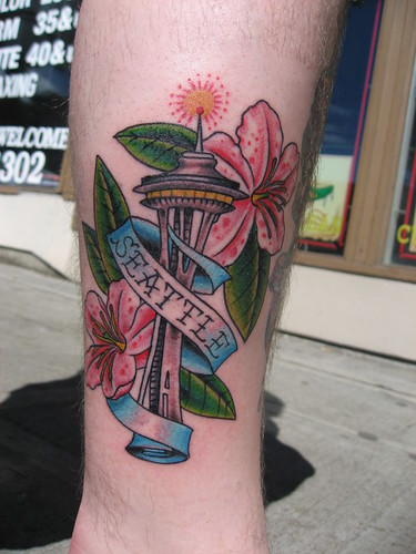 Octopus · Original sketch · Space Needle Tattoo