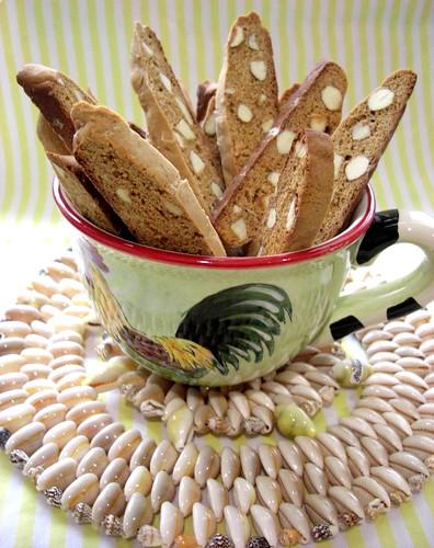 Almond Molasses Biscotti