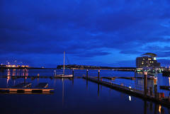 Cardiff Blues (:: arshad ::) Tags: uk blue sea sky seascape beach wales night bay cloudy cardiff bluehour cardiffbay arshad innerharbour waterscape husain siddiqui nikkor1855mm nikond3000 arshadsiddiqui arshadhusainsiddiqui gleisioncaerdydd wwwfacebookcomarshadsiddiquiphotography httpwwwfacebookcomarshadsiddiquiphotography