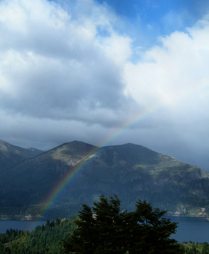 Rainbow Seen from Cerro Campanario by katiealley on Flickr