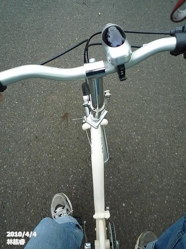 悠閒的騎車