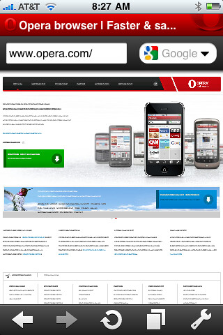 iPhone Opera Mini Opera.com