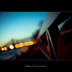 Dusk (Ziyan | Photography) Tags: blue light abstract night canon 50mm quebec bokeh dusk montreal 5d usm ef   ziyan   f12l