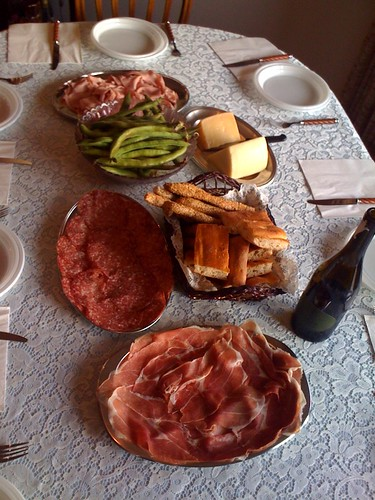 Antipasti at my aunt's house. #Rome