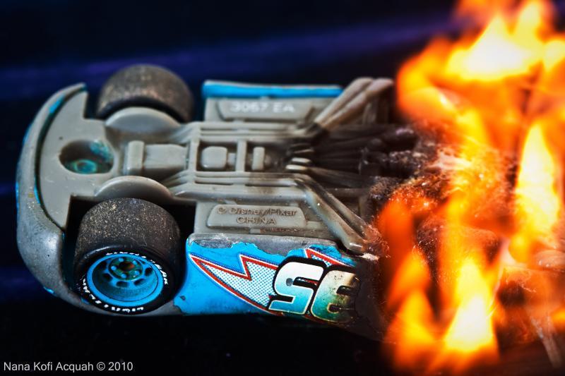 Dinoco is burning