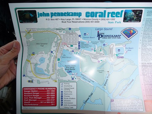 map of john pennekamp.