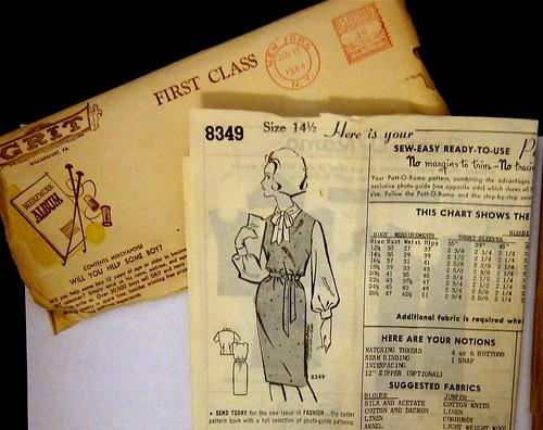 Vintage Mail Order Pattern 8349