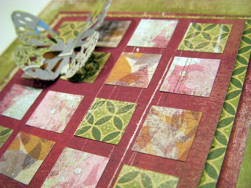 Quilt Inspired card detail