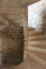 Medieval Staircase (colonelchi) Tags: sea france stone stairs europe mediterranean riviera catholic cannes faith religion safety monastery staircase monks keep catholicism cistercian fortress mip mediterraneansea spiralstaircase frenchriviera stonestaircase miptv cistercianmonks catholicmonastery lesainthonorat lesdelrins sainthonoratisland lerinsislands religiouscommune monastickeep