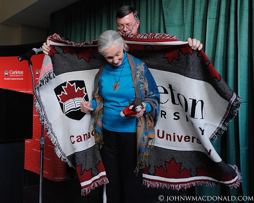 Jane Goodall & Blanket