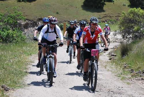 Riders go uphill