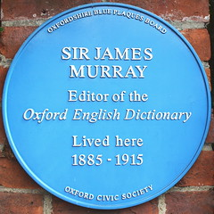 Photo of James A. H. Murray blue plaque