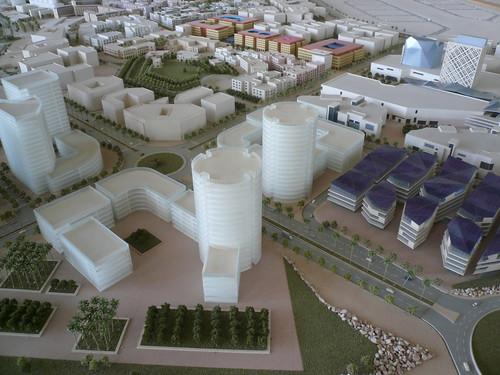 Model of Designopolis plans