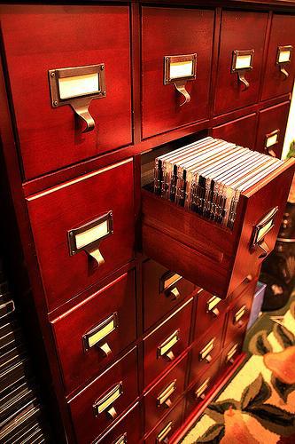 Leslie Dame library media cabinet