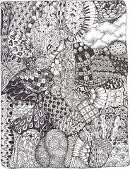 72 Totally Tangles (molossus, who says Life Imitates Doodles) Tags: zentangle zendoodle zentangleinspiredart