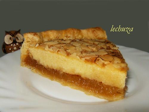 Tarta manzana y almendras -porción