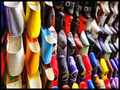 Choose Your Shoes ! (Bashar Shglila) Tags: colors leather shoes morocco fez maroc colored marruecos tanning fes fès الوان المغرب فاس الصناعات الاحذية الجلدية