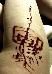 lub dub (loudervoice) Tags: blood leg cutting hip healing scar selfabuse masochism