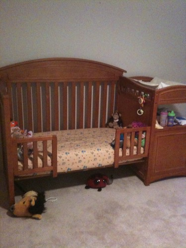04.23.10 1st day for her big girl bed