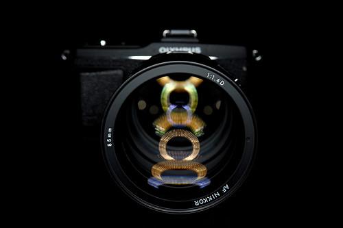 E-P2 w/ 85mm f1.4 Nikkor