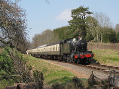 4160 leaves Crowcombe Heathfield (rcarpe2) Tags: west train railway somerset steam 4160 crowcombe
