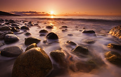 SUNNY ROCKS [EXPLORED] (~~~johnny~~~) Tags: light sunset beach contrast rocks magenta foam lovely pure artic lowsun top20longexposure watermotion lowandwide canoneos5dmarkll johnnymyrenghenriksen