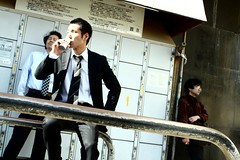 269/365: Salaryman (joyjwaller) Tags: people coffee beauty japan tokyo angle shibuya suit drama stalking salaryman smokebreak japaneseman project365 walkbyshooting conjecture heavysmoker fegsandibothfellinlovewithhiminaninstantandweresaddenedwhenheleft