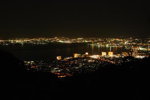 大津市内の夜景 (奥比叡ドライブウェイより)