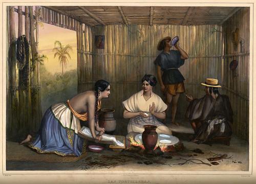 013-Las tortilleras-Voyage pittoresque et archéologique dans la partie la plus intéressante du Mexique1836-Carl Nebel