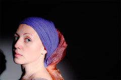 Girl with a pearl earring (Nicola Troccoli) Tags: light girl shadows earring lisa spot pearl vermeer pearlearring vermeerinspired