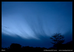 Dawn (M V Shreeram) Tags: sky india tree nature clouds landscape dawn bangalore scene karnataka mysore ramanagaram
