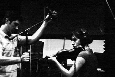 Kate on Fiddle/ Matt on Sound Engineering stuff