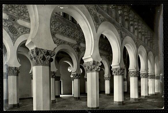 Sinagoga de Santa María la Blanca a comienzos del siglo XX. Foto Arribas